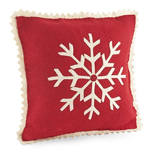 Home & Kitchen ARCADIA HOME PFSN2 Big Snowflake Pillow Cover