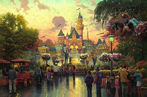 Disney Disneyland Park 50th Anniversary Thomas Kinkade Lithograph Art Print - Disneyland Store Anaheim