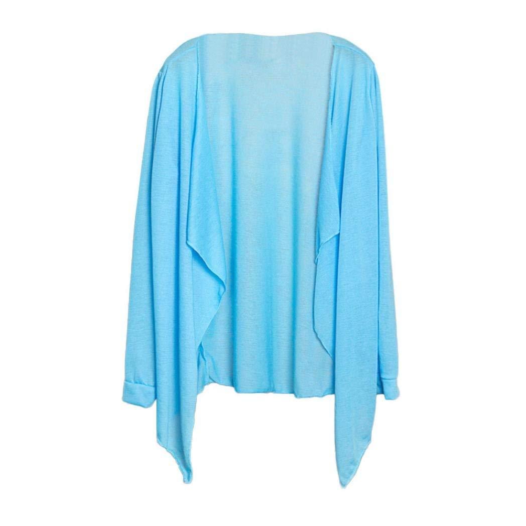 Women Lightweight Sun Protection Cardigan,Lelili Long Sleeve Open Front Swing Shawl Kimono Cardigan