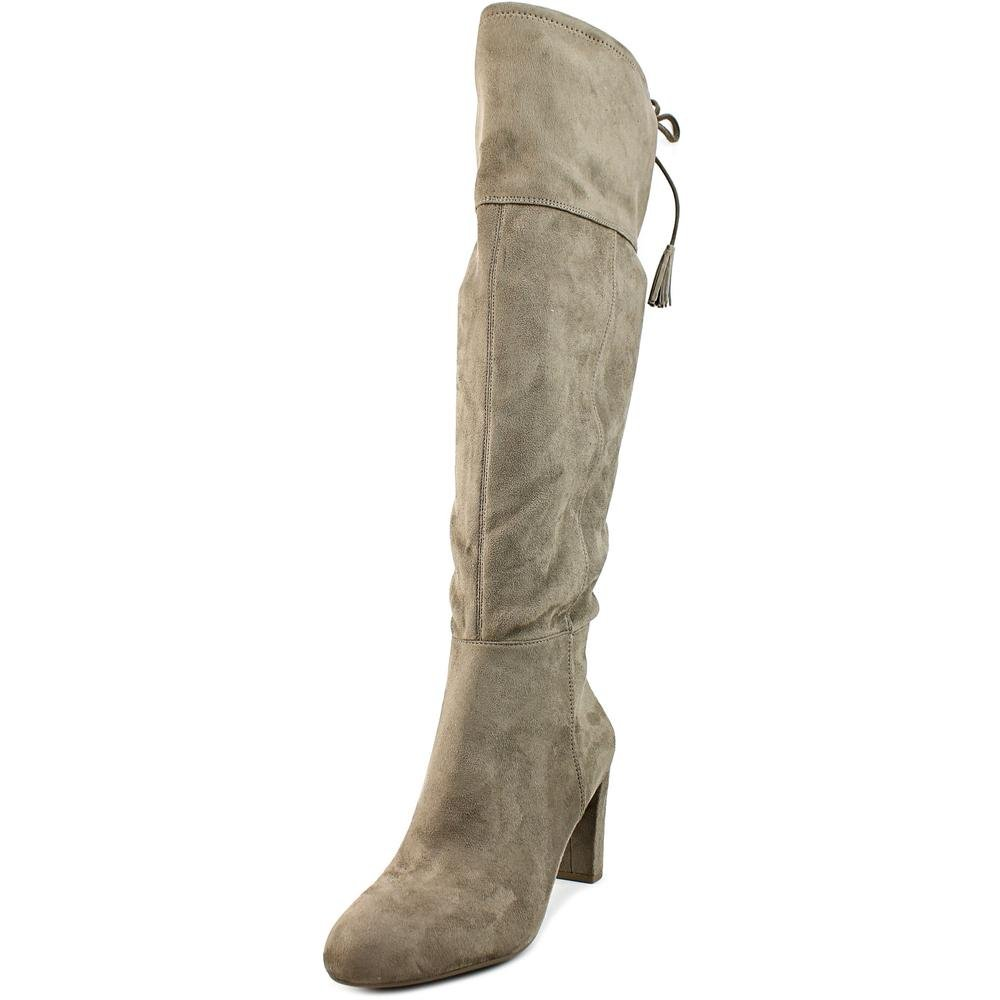 INC International Concepts Hadli Pointed Toe Synthetic Over The Knee Boot Warm Taupe 10.5 US