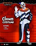 Scary Clown Deluxe Men Costume Set Halloween Dress Up Party, Role Play Carnival Cosplay