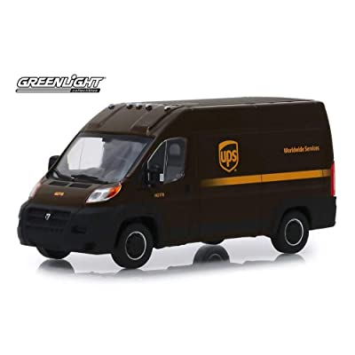 2020 Dodge Ram ProMaster 2500 Cargo Van High Roof?, United Parcel Service (UPS) Worldwide Services - Greenlight 86156 - 1/43 Scale Diecast Model Toy Car: Toys & Games