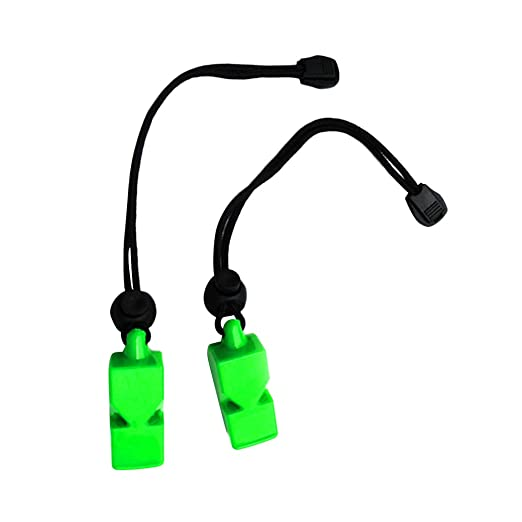 Baoblaze 4 Pack Plastic Whistles Outdoor Sport Emergency Survival Whistles with 16cm Lanyard Hand Strap for Water Sports Outdoor Activities