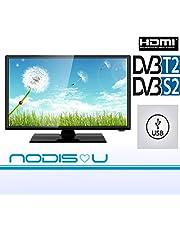 "TV 24 Pollici 24"" NODIS LED HD DVB-T2/S2 Digitale di Ultima Generazione T2 hdmi GARANZIA ITALIA MARCA ITALIANA"