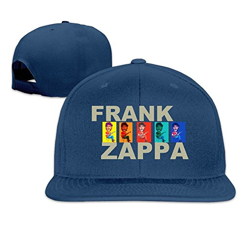 [Runy Custom Frank Zappa Adjustable Baseball Hat & Cap Navy] (Frank's Red Hot Costume)