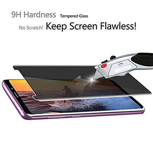 Galaxy S9 Screen Protector Privacy Temered Glass,Wehasi - [Anti Glare] HD Privacy Protective Glass Screen Protector Film Compatible Samsung Galaxy S9 - Anti Spy, Anti-Scratch, Bubble Free by Luminira (Image #3)