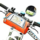 IUL Outdoor Waterproof Bicycle Handlebar Bags Water Bottle Waist Pack Bike Touch Screen Pink Purple Mobile Phone Holder Bags Front Tube Handle Cycling Packages