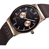 Bering Time - 32139-265 - Montre Homme - Quartz Analogique - Bracelet Acier Inoxydable Marron