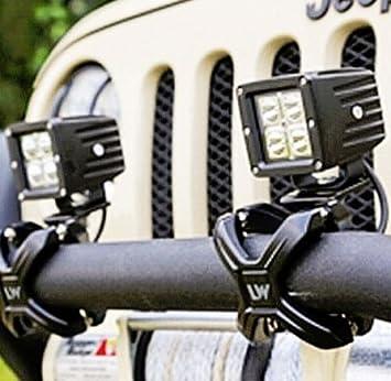 ENET Adjustable Car Work Light Bumper Bar Tube 2-3 X-Clamp Bullbar Mounting Brackt