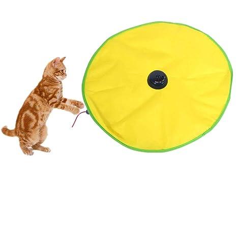 Junxave 4 velocidades Juguete para Gatos Ratón Cat s Meow Undercover Juguete electrónico Interactive para