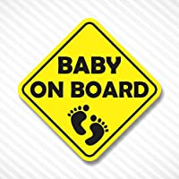 Baby On Board Yellow Vinyl Decal Bumper Sticker Baby Girl Sticker Car Truck Van Window Sticker Self Adhesive Vinyl Car Sticker