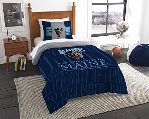 (The Northwest Company Officially Licensed NCAA Maine Black Bears Modern Take Twin Comforter and Sham)