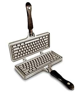 The Keyboard Waffle Iron, Stovetop Waffle Maker, Makes Extra Large Waffles