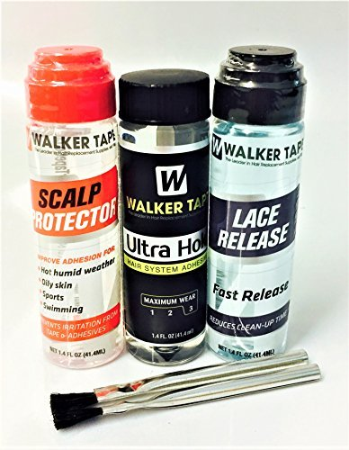 Walker Ultra Hold 1.4oz , Dab-on 1.4oz Lace Release & Scalp Protector 1.4oz Wigs ()