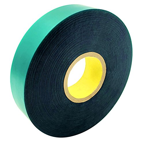 Ugold 8mil Thick 150 feet x 1'' Extra Wide Stretch Tie Tape Plant Ribbon Garden Green Vinyl Stake (Gardening Tape)