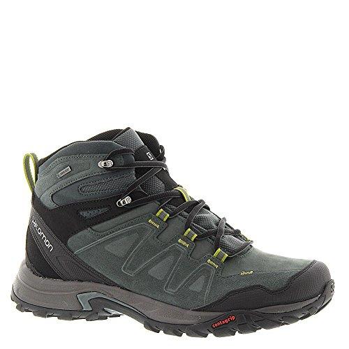 Salomon Men's Eskape LTR Mid GTX Multifunctional Hiking Shoe, Tomato/Dark Tomato/Corylus Green, 10.5 M US