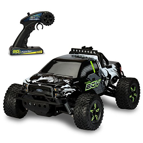 Kid Galaxy Ford f150 Remote Control Truck. Fast 30 MPH All Terrain Off-road RC Car. RTR 1/10 Scale 2.4 Ghz 20v Electric Rechargeable - Kid Galaxy Remote