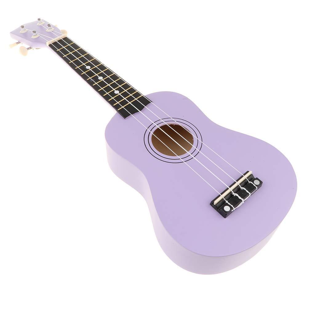 Mini Ukulele Sopran Hawaii Gitarre Musik Spielzeug Mit 4 Saiten Geschenk Für Kinder Und Freunde   Lila