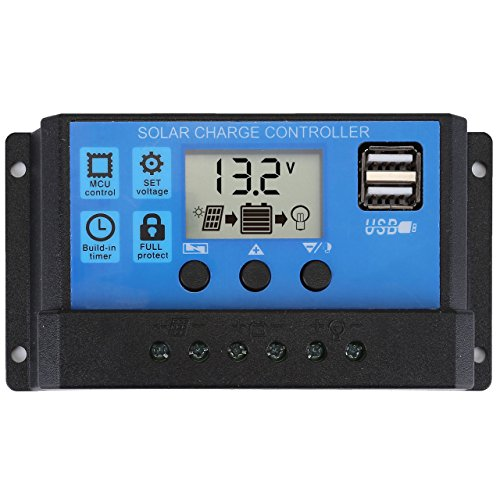 ACBungji 30A PWM Solar Charger Controller Solar Panel with USB Port LCD Display 12V/24V by ACBungji