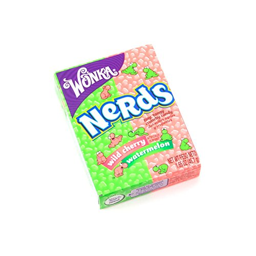 Wonka Sour Nerds Wild Cherry and Watermelon (single (Nerds Sour)