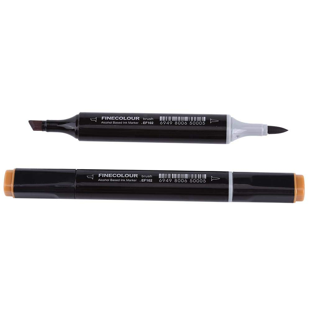 36 12//24//36 Colores Art Alcohol Twin Brush Rotuladores dobles Color de piel Set para pintar Resaltar