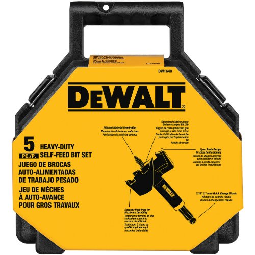 Piece Big Hawg Kit - DEWALT DW1648 Self Feed Kit 5-Pieces