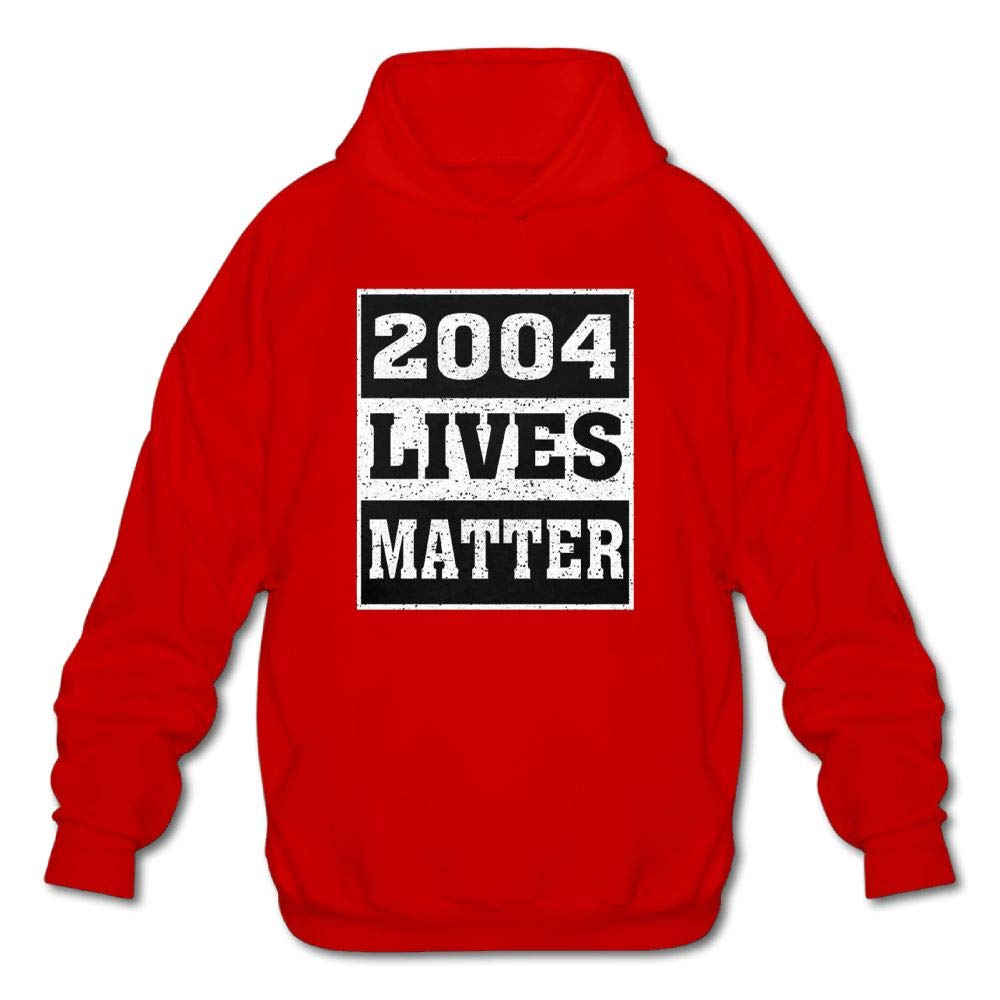 Gongchaoqun Mens Long Sleeve Cotton Hoodie 2004 Lives Matter Sweatshirt