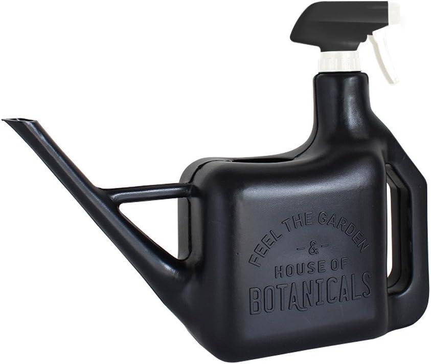 Time Concept Garden Spray Bottle - Black - Watering Pot and Sprinkler, Multipurpose Plant Mister