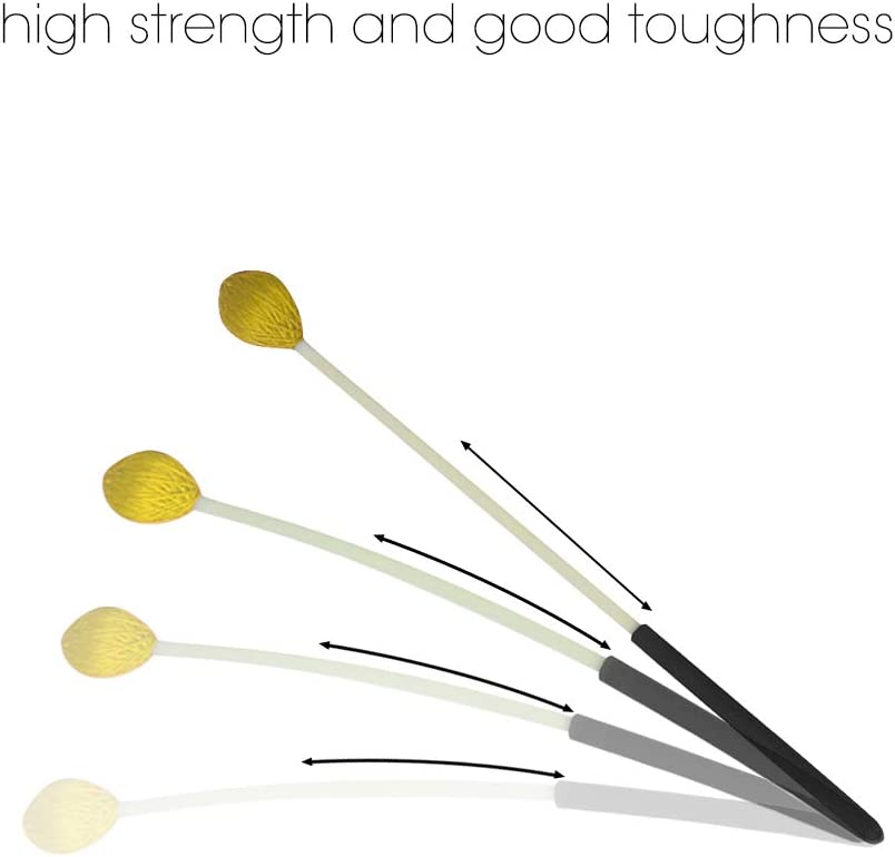 Percussion Instruments Sticks for Xylophone Glockenspiel Musical Accessories Yellow Festnight Marimba Mallets