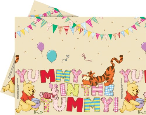 Winnie the Pooh Plastic Party Tablecover -