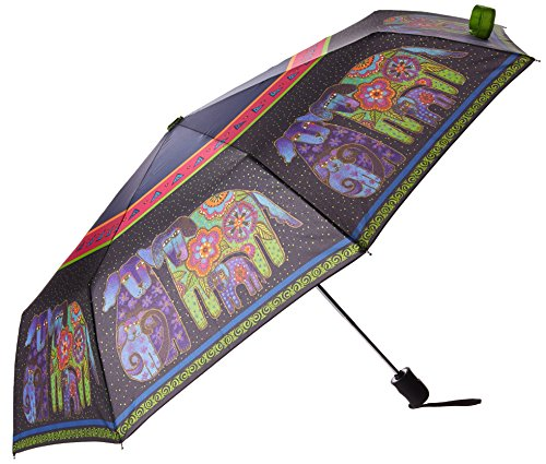 Laurel Burch Compact Umbrella 42-Inch Canopy Auto Open/Close, Dog and Doggies