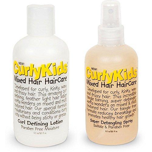 Curlykids Curl Defining Lotion & Super Detangling Spray Combo Set