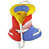 Stohlquist Waterware Kids Life Jacket Coast Guard Approved Life Vest for Children,Orange/Yellow,30 - 50 lbs