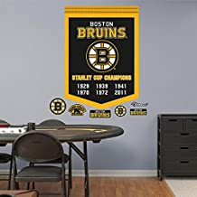 Fathead 64-64300 Wall Decal, NHL Boston Bruins Stanley Cup Championships Banner RealBig