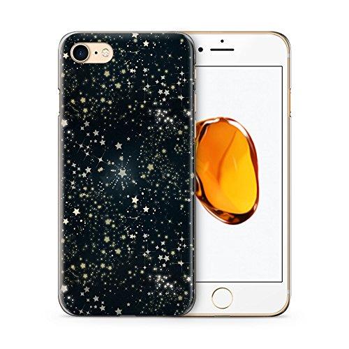 Hülle für iPhone 7 SLIM - Sternenhimmel Schwarz - Hardcase Cover Case Handyhülle Schutz Schutzhülle Muster Pattern Sterne Himmel Galaxy Galaxie