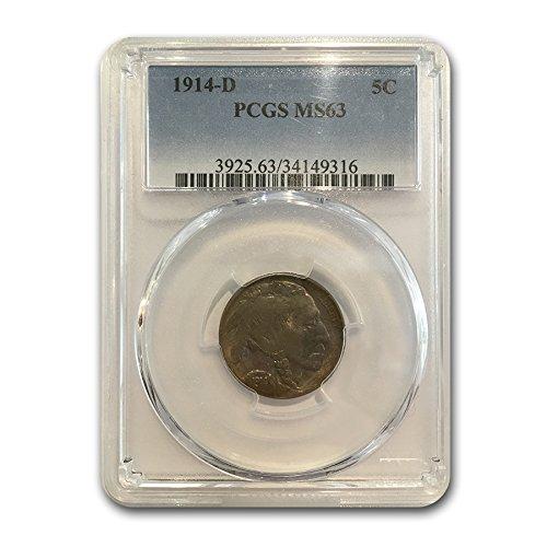 1914 D Buffalo Nickel MS-63 PCGS Nickel MS-63 PCGS