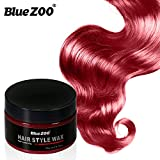 BlueZOO 120g Disposable Temporary Hair Color Pomade Unisex DIY Natural Hairstyle Wax Mud Dye Cream,Easy to Washable