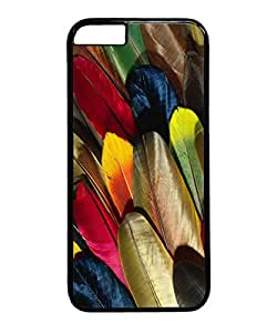 VUTTOO Iphone 6 Plus Case, Colorful Parrot Feathers Hard Plastic Case for Apple Iphone 6 Plus 5.5 Inch PC Black