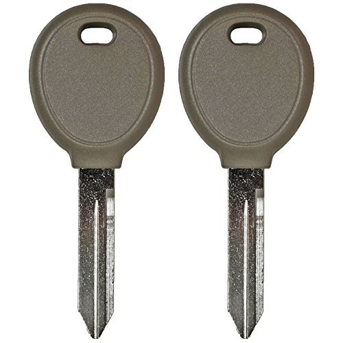 Chrysler Transponder Key - QualityKeylessPlus Two Replacement Transponder Chip Keys Y164PT for Chrysler Dodge Jeep