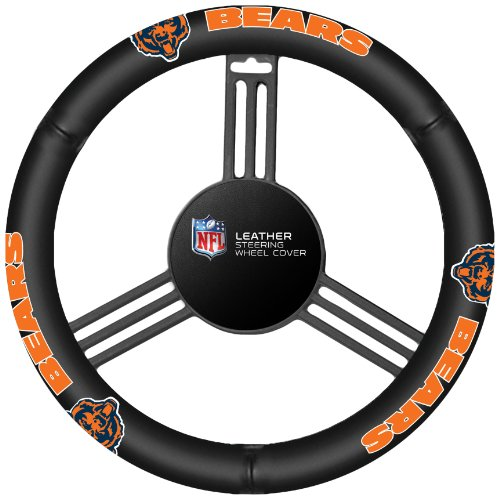 - Fremont Die NFL Chicago Bears Leather Steering Wheel Cover