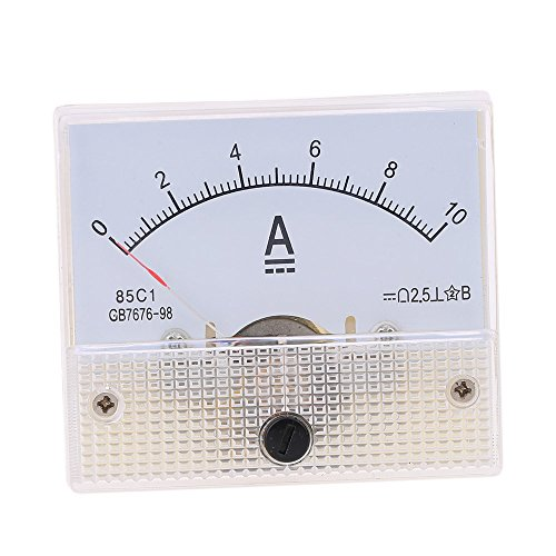DealMux Class 2.5 Accuracy DC 0-5A Analog Panel Meter Ammeter