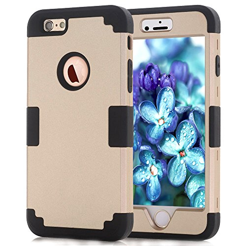 iPhone 6 Plus Cases,JDBRUIAN 3in1 Shield Series Heavy Duty Hybrid Hard PC...