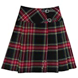 Tartanista Black Stewart 23'' Kilt Skirt US 12