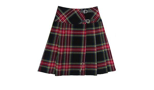 Tartanista - Kilt/Falda Escocesa Cruzada Larga Mujer - 58 cm (23 ...
