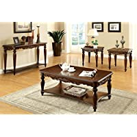 247SHOPATHOME IDF-4915-3PK Living-Room-Table-Sets, Cherry