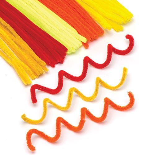 Baker Ross Craft Pipe Cleaners (Pack of 120) Summer Value Pack for Crafting and Decorations ()