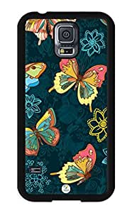 iZERCASE Colorful Butterflies Pattern RUBBER Samsung Galaxy S5 Case - Fits Samsung Galaxy S5 T-Mobile, AT&T, Sprint, Verizon and International