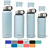 MIRA 40 oz, 32 oz, 22 oz or 18 oz Stainless Steel Vacuum Insulated Wide Mouth Water Bottle | Thermos Keeps Cold for 24 hours, Hot for 12 hours