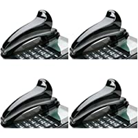 SKILCRAFT 7520-01-592-3859 Curved Plastic Telephone Shoulder Rest, 7 x 2 x 2-1/2 Inch Height, Black, 4 Packs
