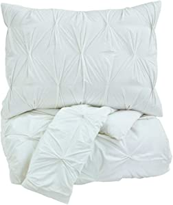 Ashley Furniture Signature Design - Rimy Comforter Set - Includes Duvet Cover & 2 Shams - King Size - White